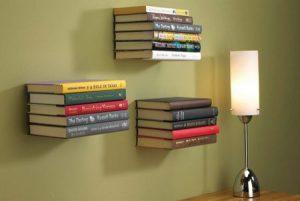 Estantería flotante para libros